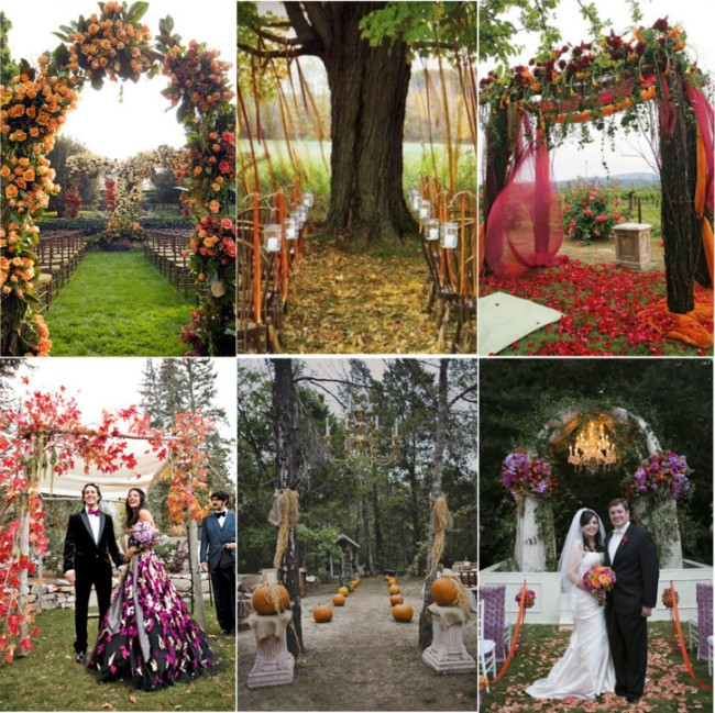 Wedding Altar Decorations Ideas: Fabulous Fall Wedding Altars: From Rustic To Glam