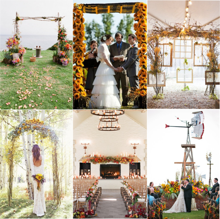 Indoor Altar Decorations For Weddings: Fabulous Fall Wedding Altars: From Rustic To Glam