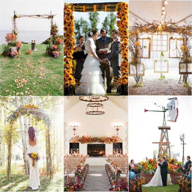 Country Rustic Wedding Altars: Fabulous Fall Wedding Altars: From Rustic To Glam
