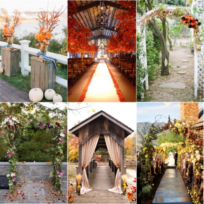 Rustic Wedding Altar Decorations: Fabulous Fall Wedding Altars: From Rustic To Glam