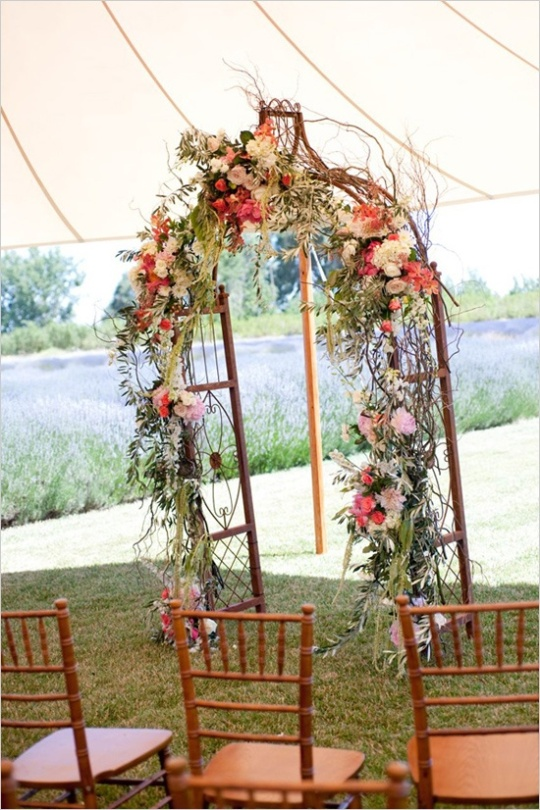 Aisle Style - Wedding Ceremony Arch Inspiration - crazyforus