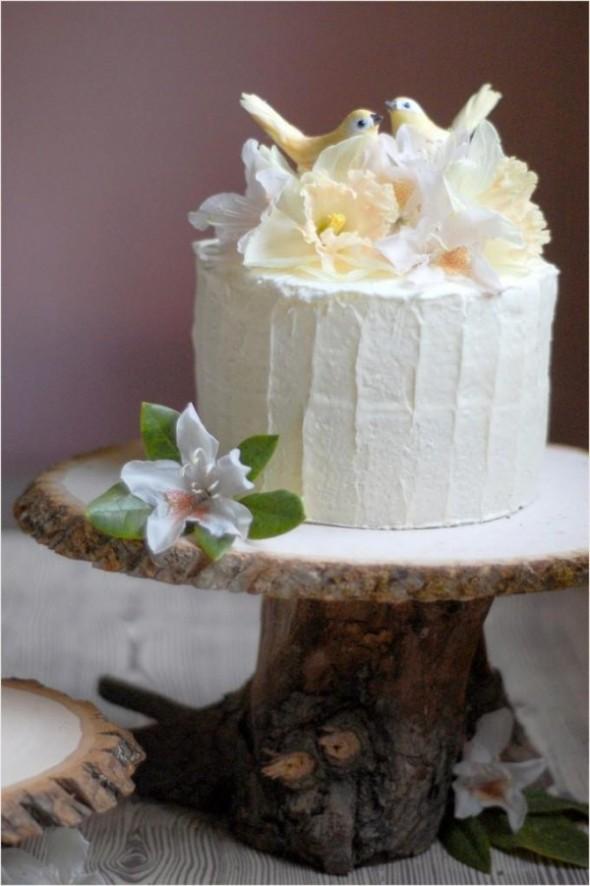 DIY taart standaard van hout