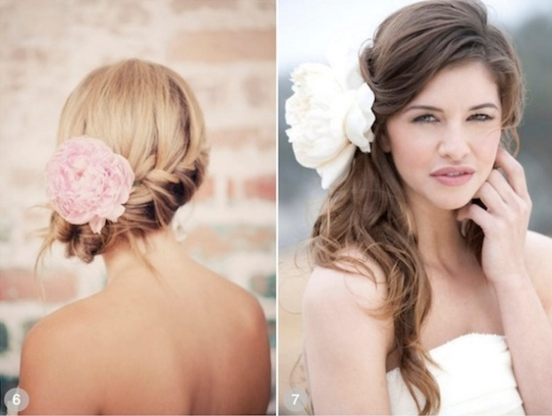 ROMANTIC WEDDING HAIRSTYLES USING FLOWERS