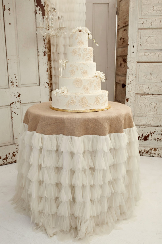 Exceptional Tiered Ruffle Tablecloth: Candy Crush Events, Jute + Lace: Flea Market Chick