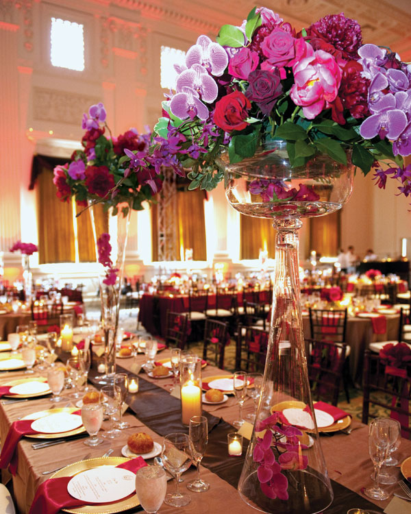 Gorgeous tall wedding centerpieces part i crazyforus for Center arrangements for weddings