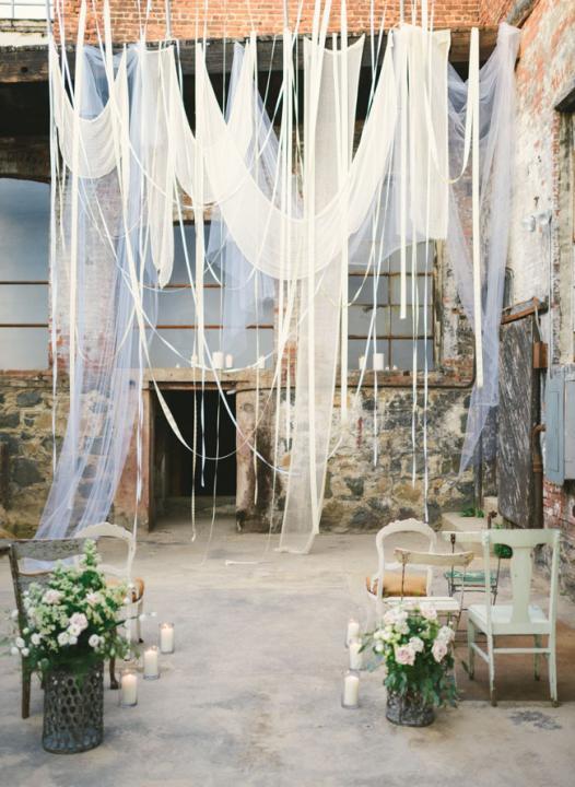 photo Wedding Ceremony Trend: Ribbon Canopies – Part I